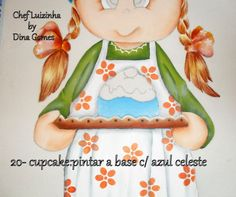 20.- Cupcake: pintar base color azul celeste