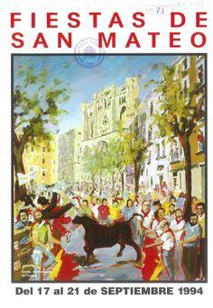"""San Mateo 1994 Fiestas en Cuenca del 17 al 21 de septiembre Pregón de fiestas por Fermín Asensio """"Jamu"""" #FiestasPopulares #Cuenca #SanMateo"""