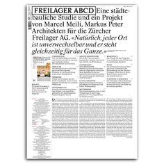 FREILAGER ABCD Eine städtebauliche Studie und ein Projekt von Marcel Meili, Markus Peter Architekten für die Zürcher Freilager AG