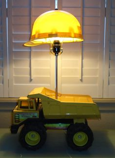 Tipper lamp - house decorations - Tipper lamp # # Informations About Kipper-Lampe – Hau - Boys Construction Room, Truck Bedroom, Boys Truck Room, Luminaire Original, Ideas Habitaciones, Antique Lamps, New Room, Kids Bedroom, Bedroom Ideas