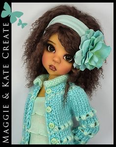 "Aqua Spring Outfit for Kaye Wiggs 18"" MSD BJD by Maggie & Kate Create"