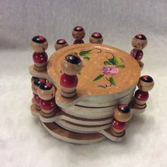 A personal favorite from my Etsy shop https://www.etsy.com/listing/471213019/wood-coaster-with-tiny-figurines-made-in