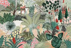 Illustrator Sara Boccaccini Meadows takes illustration to another level, hand crafting a whole intricate universe of flowers, plants, people and cities. Stampin Up, Watercolor Pans, Types Of Architecture, Colossal Art, Guache, Gouache Painting, Large Painting, Textile Prints, Surface Pattern