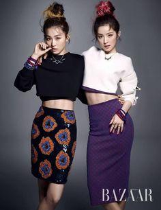 Red Velvet's Seulgi & Irene - Haper's Bazaar Korea October 2014 Issue #kpop
