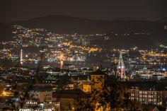 Night Time Our World, Bergen, Night Time, San Francisco Skyline, Norway, Paris Skyline, Wordpress, Travel, Viajes
