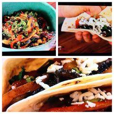 Bobby Flay:   Portabello mushroom tacos.