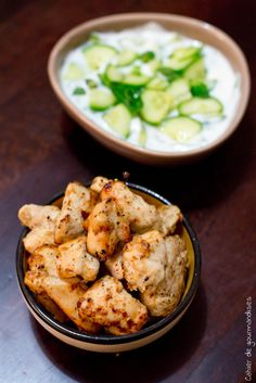 Poulet Chiche Taouk - Chiche Taouk Chicken, a Libanese fresh recipe