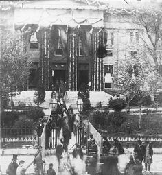 Lincoln's Funeral, Old State Capitol, 1865. Springfield, Illinois. Courtesy of the Abraham Lincoln Presedential Library.