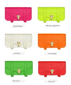 Fashion TMC Women's Neon Green Clutch Bags Elegant Messager Cross Shoulder Bag Evening Purse Bags Chic Style