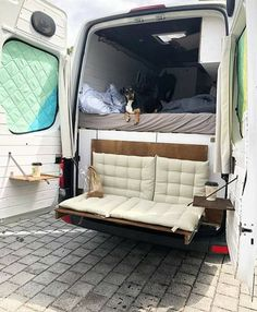 fold down couch camper van The post Biggest Van Life Mistakes appeared first on Woman Casual - Camping Ford Transit Connect Camper, Transit Camper, Bus Camper, Camper Life, Camping Car Van, Casas Trailer, Kangoo Camper, Sprinter Camper, Big Van