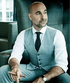 The best beard styles for bald men! If you are a bald man, then you need to grow any kind of beard! These beard styles are all pretty awesome! Bald Men With Beards, Bald Man, Mode Masculine, Style Hommes Chauves, Bald Men Style, Stanley Tucci, Men Over 40, Best Beard Styles, Der Gentleman