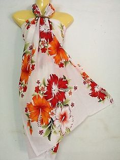 Sarong Pareo Skirt Dress Sexy Multi-Color Hawaiian Island Wear, Hawaii