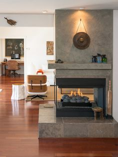 three way fireplace ideas - Google Search