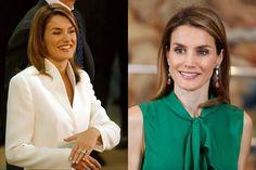 La princesa Letizia antes y después de retocarse la nariz