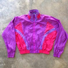 Vintage 90s Nike Pink/Purple Womens Windbreaker Jacket- (Large) by StreetDeco on Etsy