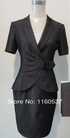 businesse work suit dress for women women's career suits with knee-length skirts ladies business suits for women sets elegant US $44.99