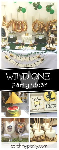 Check out this awesome 'Where the Wild Things Are' Wild One birthday party. The cookies are so cool!! See more party ideas and share yours at CatchMyParty.com #1stbirthday #wherethewildthingsare