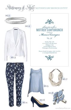 Stationery & Style: Mother's Day Brunch Outfit