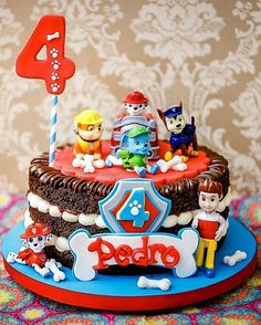 Paw Patrol Birthday Cake, 3rd Birthday Cakes, Paw Patrol Party, Bolo Do Paw Patrol, Torta Paw Patrol, Construction Party Cakes, Digger Cake, Mickey Mouse Clubhouse Birthday, Cute Cakes