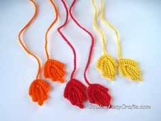 Crochet Wrapping Ribbons, Fall, crochet pattern - Goldenlucycrafts
