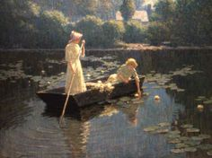lotus byAbbott Fuller Graves 1859–1936 American painter and illustrator