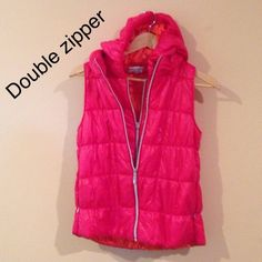 Lightweight Double Zip Vest This vest worn once.  Super light and warm. Wear this and achieve sporty chic look. Good for spring and fall. Double zipper. Make an offer. I can't lower the price unless you're serious buyer. When we agree upon the amount then I'll lower the price so you have a huge discount on shipping. Price NEGOTIABLE within reason. Jackets & Coats