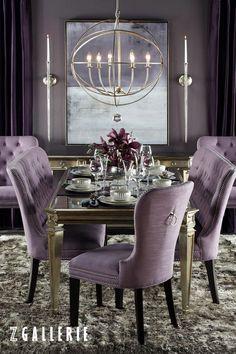 Фиолетовый в интерьере столовой Dining Room