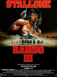 Rambo III (1988) Original French Movie Poster