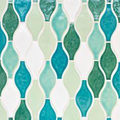 Moroccan Hourglass - Moroccan Hourglass - 1015E Caribbean Blue, 11 Deco White, 1017E Sea Mist, 216E Sea Glass, 12E Bluebell
