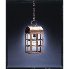 Northeast Lantern Adams 1 Light Outdoor Hanging Lantern Finish: Verdi Gris, Shade Type: Seedy Marine