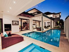 This is swimming pool luxury!