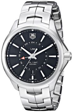 Men watches : TAG Heuer Men's WAT201A.BA0951 Link Analog Display Swiss Automatic Silver Watch
