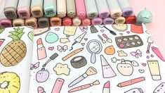 """8,411 Likes, 27 Comments - ⭐️KiraKiraDoodles (@kirakiradoodles) on Instagram: """"Cutie Cosmetics ✨ relaxing coloring video from my sketchbook  You can watch the whole video…"""""""