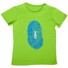 """A great empowering message for girls!  Nothing is more unique than a fingerprint, except you! Tell the world to forget their labels and stereotypes. Tell them """"I Am Me!""""    From Girls Will Be, a designer of non-girly girl clothes (sizes 4-12).  These t-shirts are the perfect fit (not too boxy, but not too fitted)."""