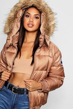 Puffer Jacket With Fur, Down Puffer Coat, Puffy Jacket, Fur Jacket, Bright Jacket, Winter Fits, Kimono, Dope Outfits, Fur Trim