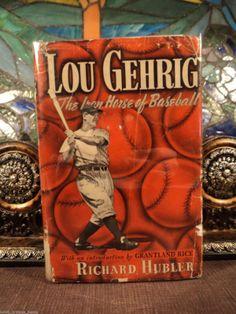 1941 1st ed Lou Gehrig BASEBALL Yankees Sports Memorabilia Dust Jacket Americana