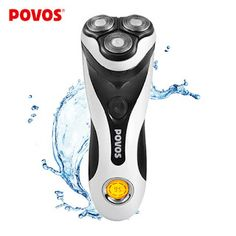 POVOS Men Washable Rechargeable Rotary Electric Shaver Razor with 3D Floating Structure 1 Hour Quick Charge Hair Removal PQ8602 (1854800809)  SEE MORE  #SuperDeals