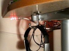 Headphone Storage - under the desk