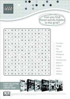 LEGO word search