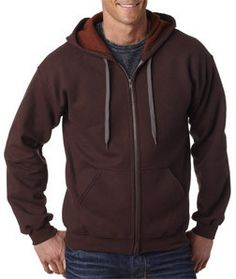 18700 Gildan Heavy Blend™ Adult Vintage Full-Zip Hooded Sweatshirt Russet