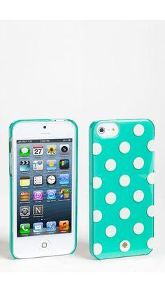 Aqua Kate Spade phone case...... I love it