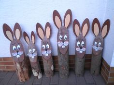 Wooden Easter bunny, tree trunk, Easter bunny tribe, easter decoration, bunny Source by suzybo Wood Slice Crafts, Wood Crafts, Diy And Crafts, Crafts For Kids, Easter Tree, Easter Bunny, Bunny Bunny, Bunny Crafts, Easter Crafts