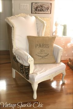 Ideas for my wingchair: Vintage Sparkle Chic