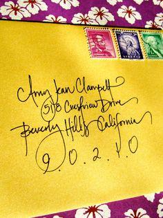 calligraphy envelope custom handwritten by blissfulinkbykeeli, $1.25