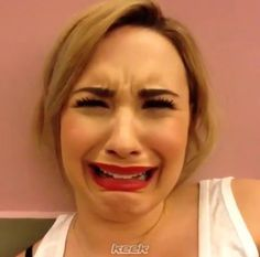 Okay, is Demi Lovato crying or constipated...?