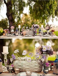 love the Stingray center vase on this tablescape - Birthday_ party _ reception _ shower