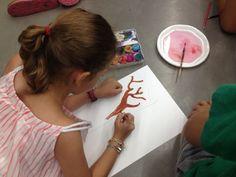 Xup-Xup creatiu d'estiu: En ple procés creatiu! La canòpia del xup-xup comença a definir-se
