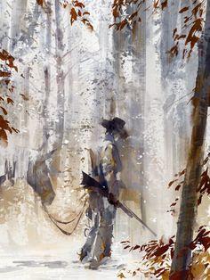 jeremiah johnson by flaptraps - richard anderson - CGHUB Art And Illustration, Illustrations, Westerns, Richard Anderson, Cowboy Art, Art For Art Sake, Western Art, Cowboy Western, My Horse
