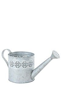 Geometric cutout design, this metal watering can planter is decorative and practical. It co-ordinates with the matching drip tray. Metal Watering Can, Drip Tray, Canning, Outdoor Decor, Design, Home Decor, Decoration Home, Room Decor, Home Canning