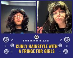 Searching for bangs curly hairstyles? Check hairstyles with bangs for natural curly hair. Choose the one that will fit you and create a superb look! Curly Hair With Bangs, Curly Hair Cuts, Natural Wavy Hair, Short Curly Hair, Perfect Image, Perfect Photo, Haircuts With Bangs, Hair Gel, Love Photos